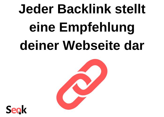 Backlinks sind Empfehlungen