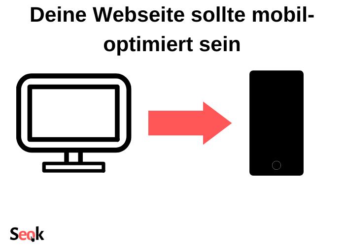 Deine Webseite sollte mobil-optimiert sein