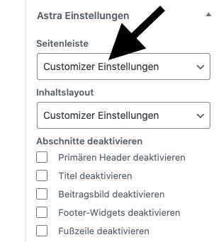 Wordpress Sidebar nur auf bestimmten Seiten anzeigen