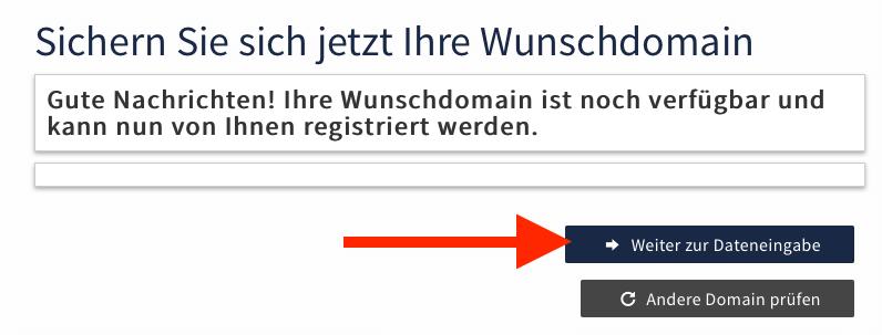 Webgo Domain sichern