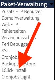 Webgo WordPress 1click install