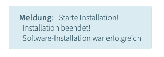 Wordpress Installation erfolgreich
